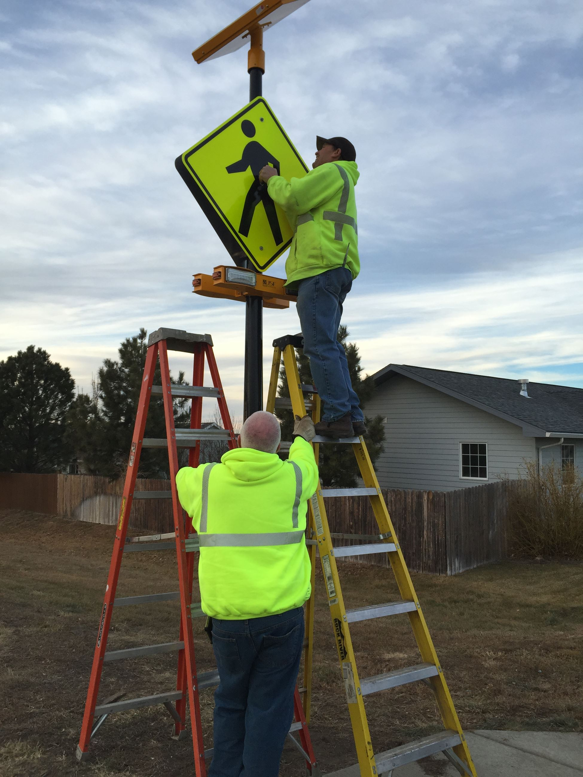 Crosswalk on Abby_sign installation