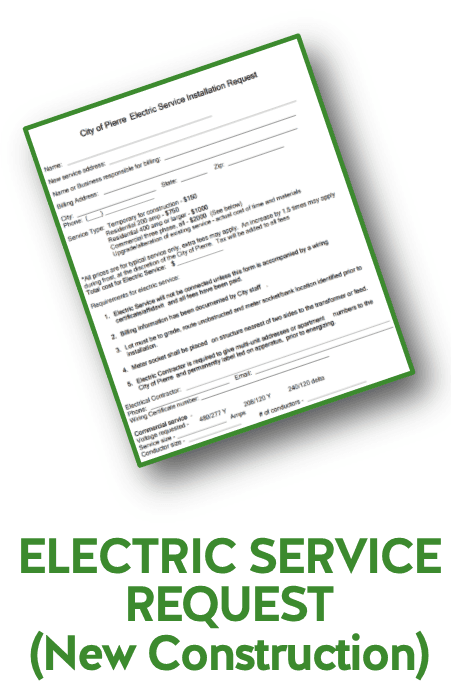 ELECTRIC PAGE_ELECTRIC SERVICE REQUEST