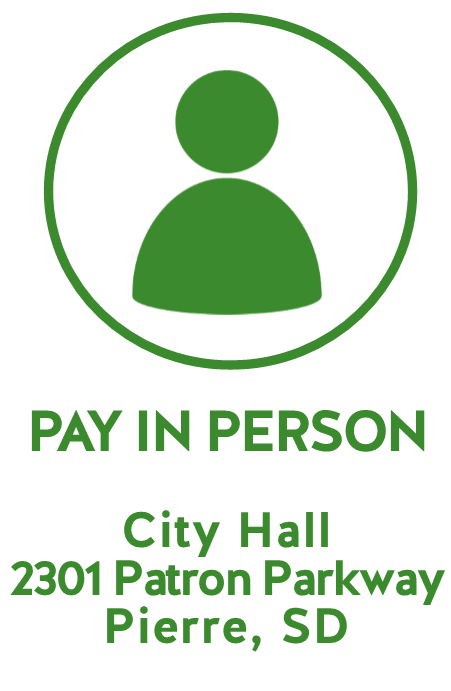 PAY IN PERSON CITY HALL 2301 PATRON PARKWAY