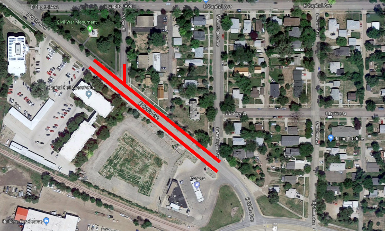 8.15.19_WELLS AVENUE CLOSURE MAP