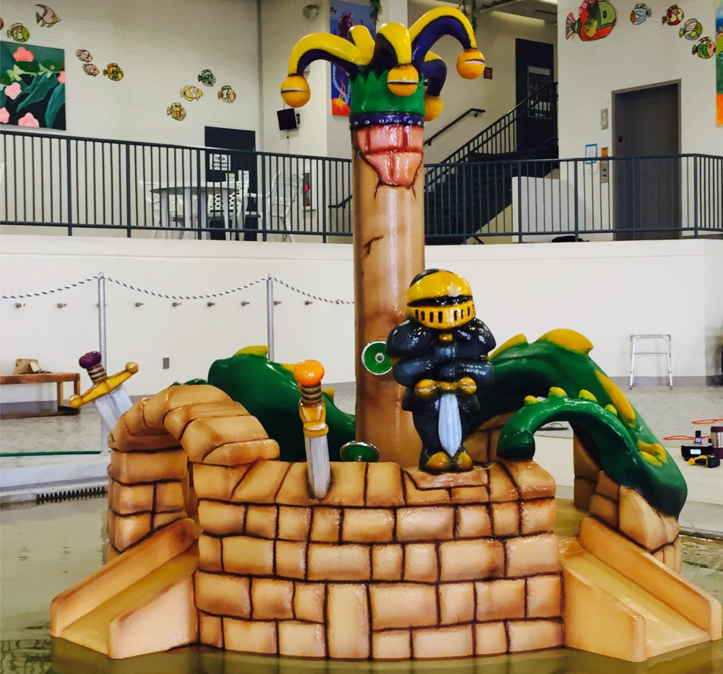 Norbert Junior:  Play feature at Pierre Aquatics Center