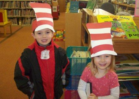 Children Dressed as the Cat in the Hat