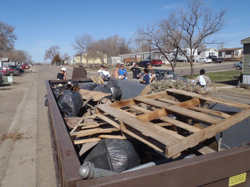 Group Cleans Up Area East of Fifth Street Trailers