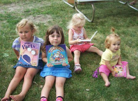 Toddlers Looking at Books