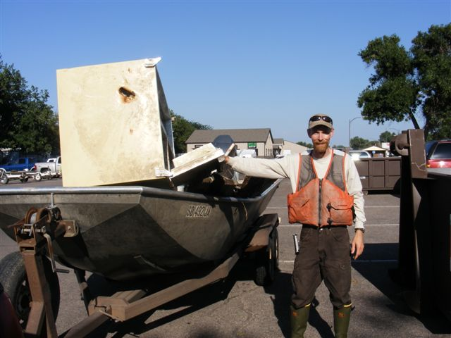 Trash Collected from Missouri River