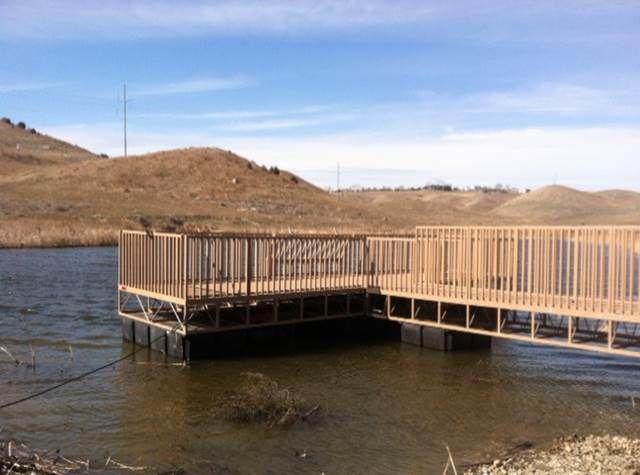 The South Dakota Department of Game Fish and Parks recently installed a fishing pier at Mickelson Pond.  The pond is located on the north side of Fourth Street in northcentral Pierre.